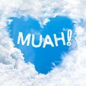 Muah Word On Blue Sky