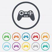 Joystick sign icon. Video game symbol.