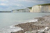 Chalk Cliffs In Sussex. England