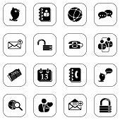 Social media & blog icons - B&W series