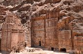 Rock cut architecture in Petra
