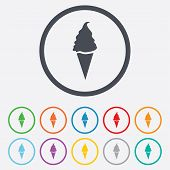Ice Cream sign icon. Sweet symbol.