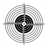 stock photo of shooting-range  - The target for shooting practice at a shooting range with a pistol - JPG
