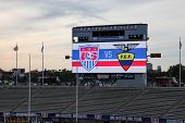 HARTFORD - OCTOBER 10:  Rentschler Field stadium before socce match between US Men`s National Team vs Ecuador, on October 10, 2014, in Rentschler Field stadium, Hartford, USA.
