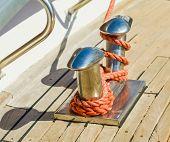 Bollard On Yacht
