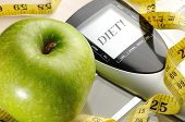 Apple And Sport And Diet Message