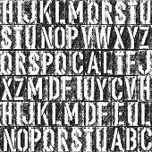 Letterpress seamless background. Black and white version.