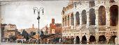 great antique Rome - vintage picture