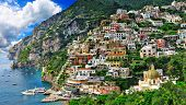 breathtaking scenery of Positano, Amalfi coast , Italy