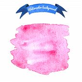 Watercolor Pink Background