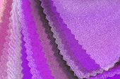 purple pink organza color selection