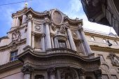 Church Of St. Charles Near The Four Fountains (san Carlo Alle Quattro Fontane) In Rome, Italy
