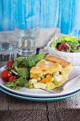 Savory pie with chicken
