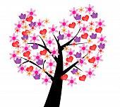 Ilustrated tree of love
