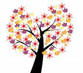 Colorful tree, symbol of love