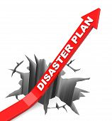 picture of disaster preparedness  - 3d generated picture of a disaster plan concept - JPG