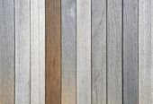 Old Weathered Teak Planks And One Oiled