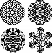 black vector ornaments