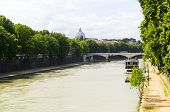view of Tiber, Rome, Italy