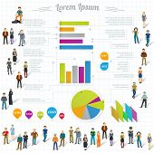 Human infographics.Retro vector template.