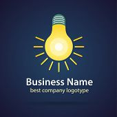 Abstract logotype concept isolated on dark background for business design. Key ideas is business, ab