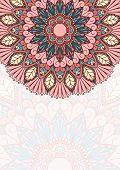 Floral oriental pattern.