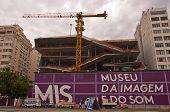 Construction site of Image and Sound museum in Rio de Janeiro