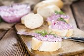 Portion Of Herring Salad (with Beet)
