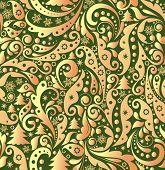 Christmas golden wallpaper. Raster copy