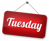 tuesday next day calendar concept for appointment program or event