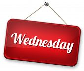 wednesday next day calendar concept for appointment program or event