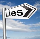stock photo of tell lies  - lies breaking promise break promises cheating and deception lying    - JPG