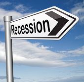 pic of stock market crash  - global economic recession crisis bank and stock crash economy and financial bank recession market crash road sign - JPG