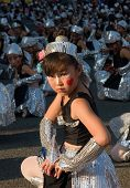 Japanese young children Festival Dancers