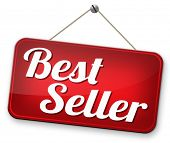 Постер, плакат: bestseller top product most wanted item best seller book