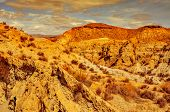 a view of the desert of Tabernas, in Province of Almeria, in Spain