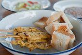 Delicious Asian Cuisine Pig Satay