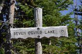 Seven Devils Lake Sign