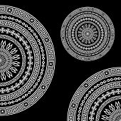 Ethnic pattern background on black