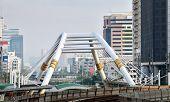 Bidge Link Between Mass Transportation In Bangkok
