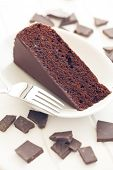 the sacher cake and chocolate