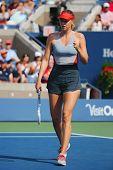 Five times Grand Slam champion Mariya Sharapova during third round match at US Open 2014