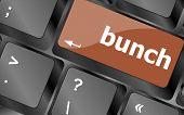 Bunch Word On Computer Keyboard Key