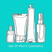 set of men's cosmetics