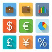 Flat Finance Icons. Vector Illustration