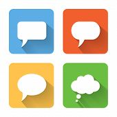Flat Speech Bubble Icons. Vector Illustration
