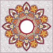 round ornamental frame, circle floral background, mandala patter