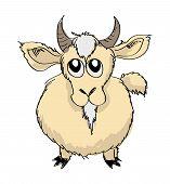 Sketch Goat Vector Illustration