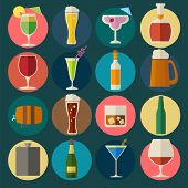 foto of bing  - Alcohol drinks icons - JPG
