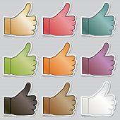 Thumbs Up Stickers
